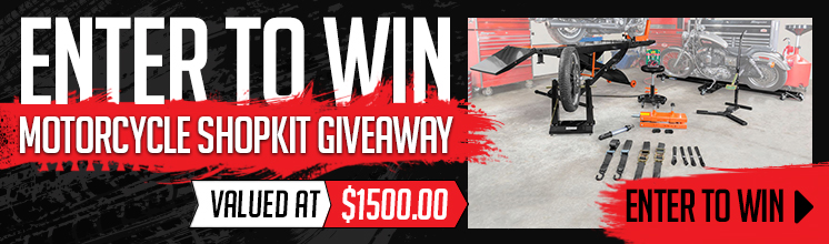 ENTER TO WIN a Motorcycle Shop Kit!
