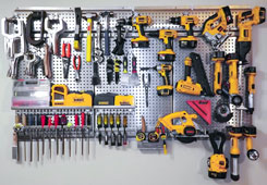 Warrior metal pegboard