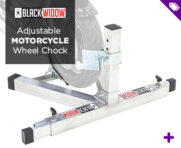 Black Widow Motorcycle Wheel Chock - Shop Now!