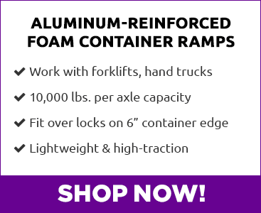 Guardian Aluminum-Reinforced Foam Container Ramps - Shop Now!