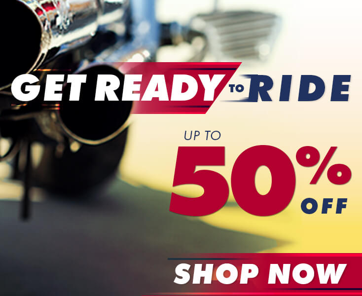 Get Ready to Ride - Save up to 50% Off!