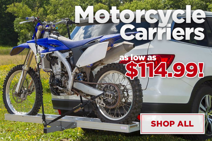Motorcycle Carriers from $114.99 - Shop All
