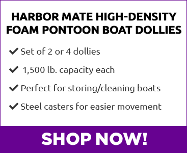 Harbor Mate Pontoon Boat Dollies Back View - Shop Now!