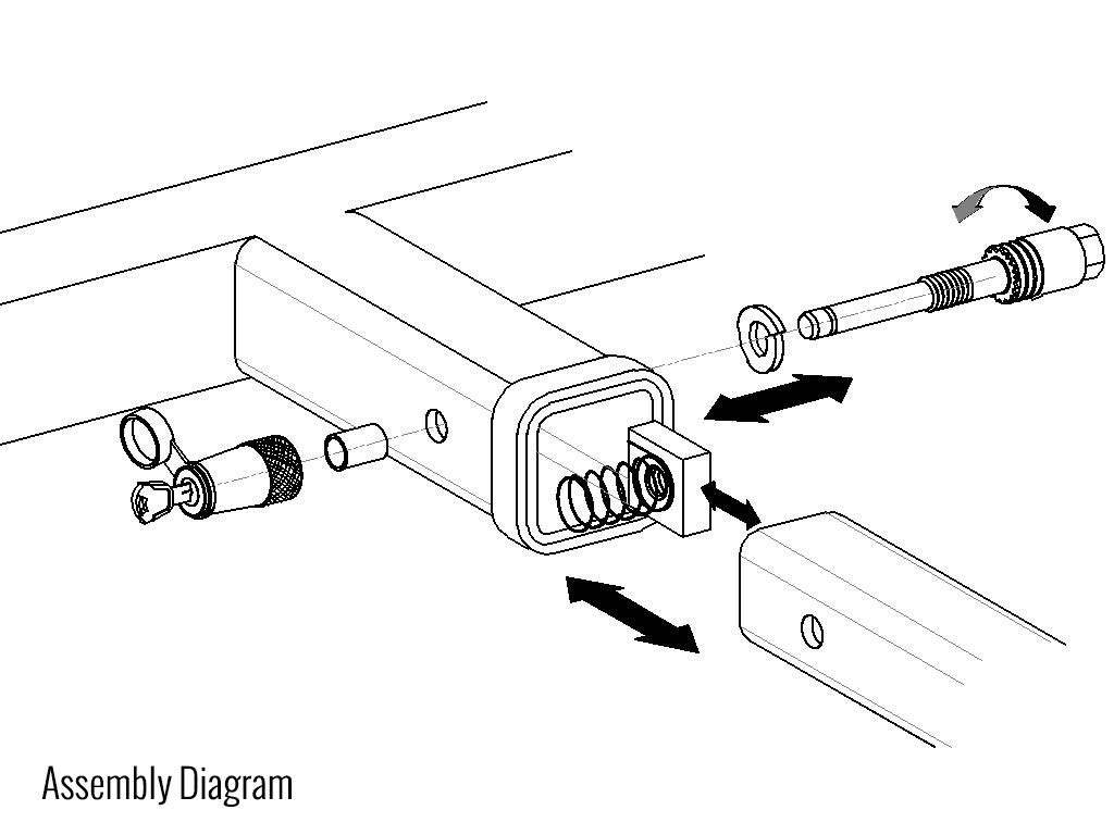 In order for the Hitch ball to be secured properly, what should be the last part assembled?