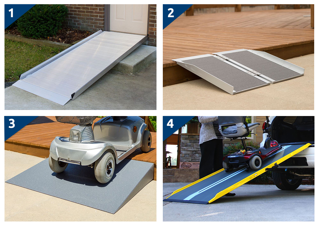 Wheelchair Ramp Styles-Modular Handicap Access Ramps-Portable Wheelchair Ramps-Solid and Threshold Ramps-Wheelchair Van Ramps