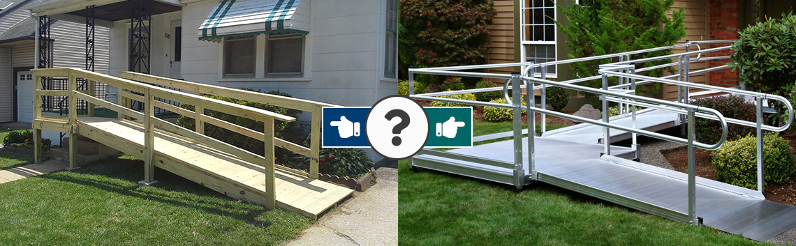 The Difference between Wooden and Aluminum Modular Wheelchair Ramps
