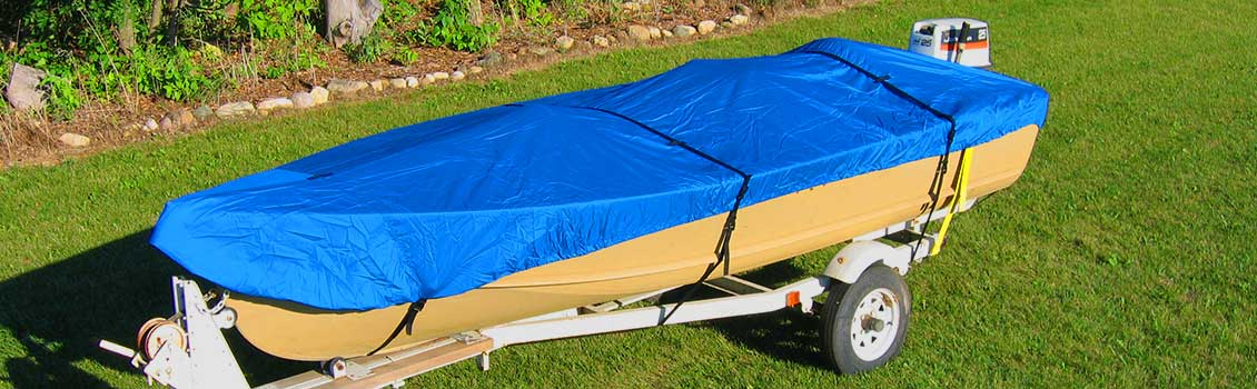 Boat with cover on