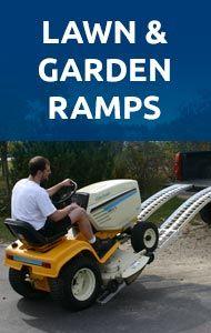 shop garden tractor ramps