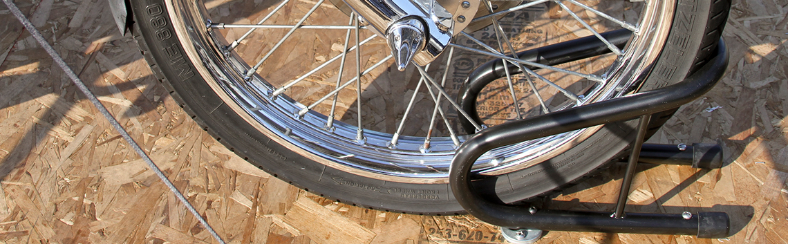 How To Use A Motorcycle Wheel Chock Ramps Com. Homemade Motorcycle Wheel Chock