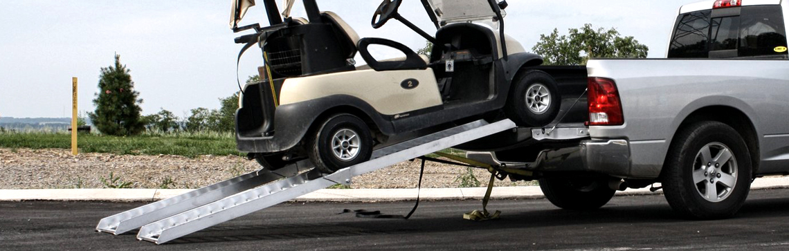 How to Load a Golf Cart into a Truck