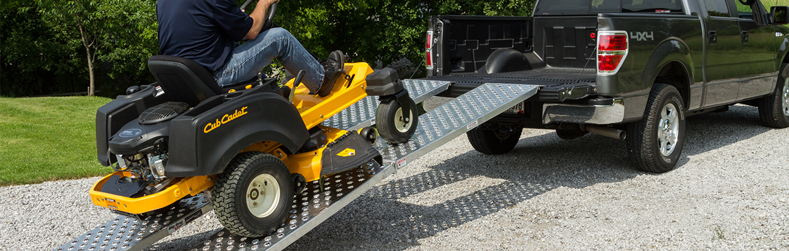 How to Properly Load a Lawn Tractor into a Pickup Truck