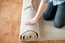 Rolling up area rug
