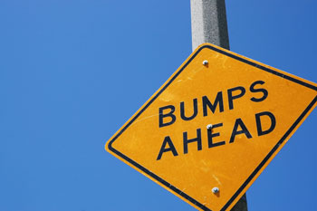 Bumps ahead sign