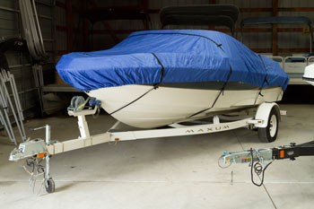 Boat with cover