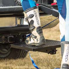 Trailer hitch-mounted step