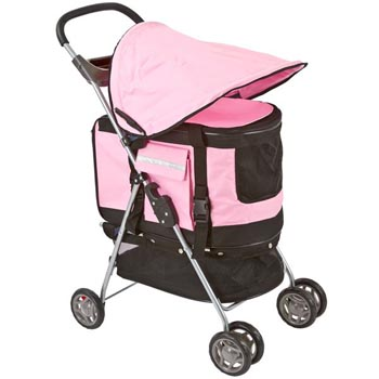 Four wheel pet stroller
