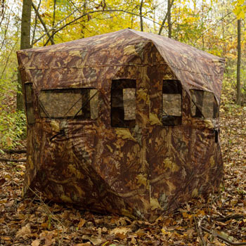 Hunting blind in the woods