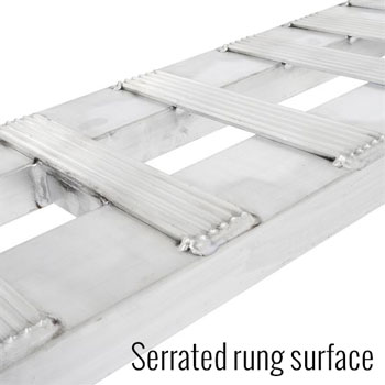 Serrated ramp surface