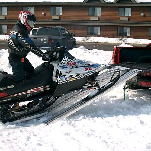 Snowmobile ramp extension