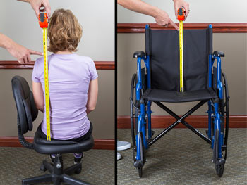 Wheelchair back height measurements