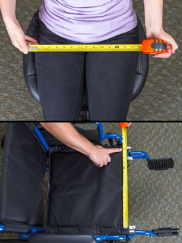 Wheelchair seat width measurements