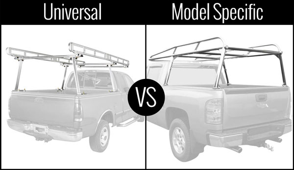 Universal vs model specific truck racks