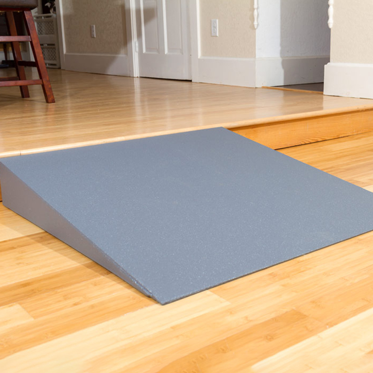 Install threshold ramps to easily overcome small rises