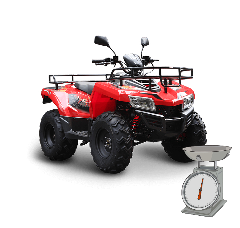 Find the total weight of your ATV