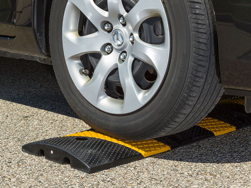 Reduce vehicle speeds with speed bumps and humps