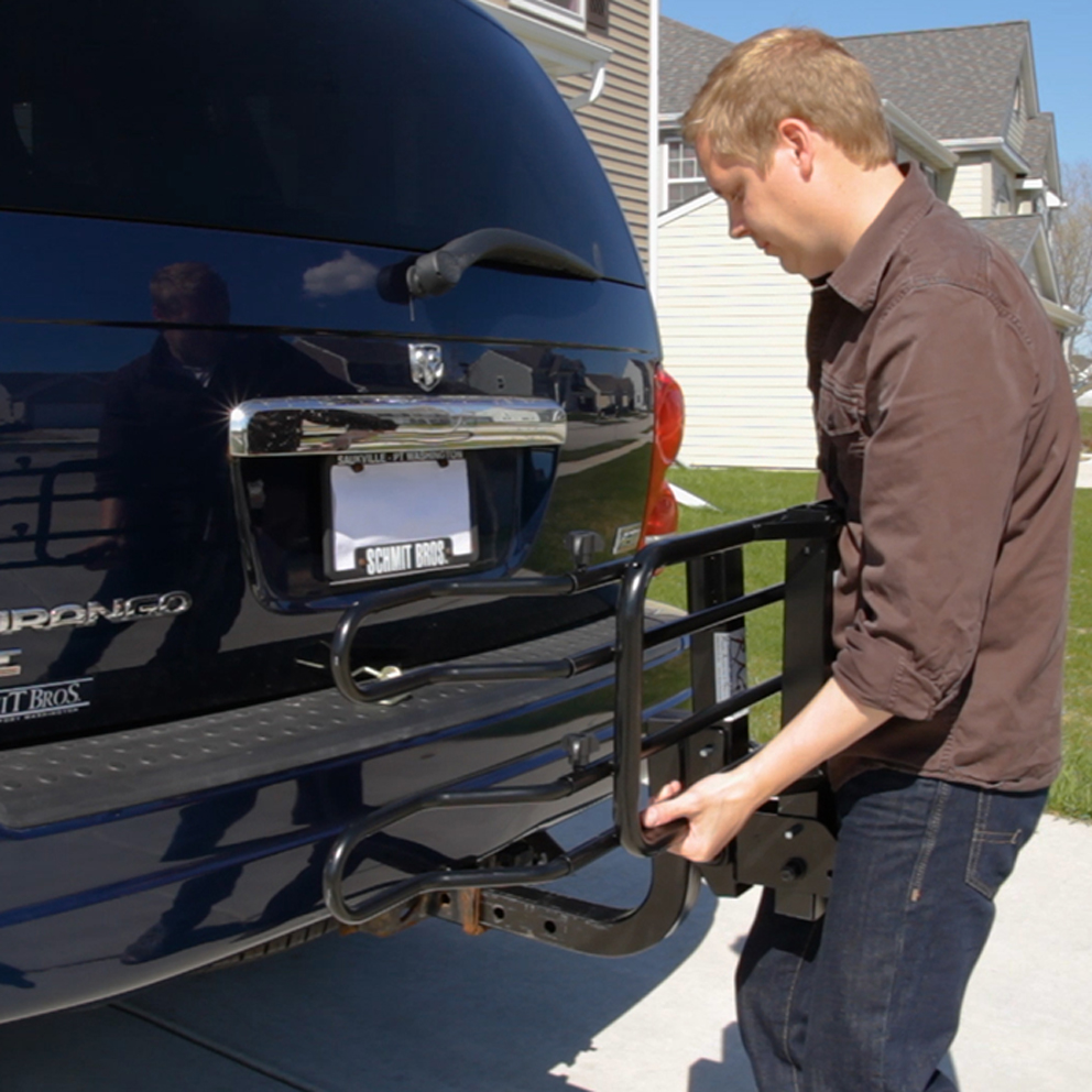 Fit the bike rack hitch tube into your car's receiver