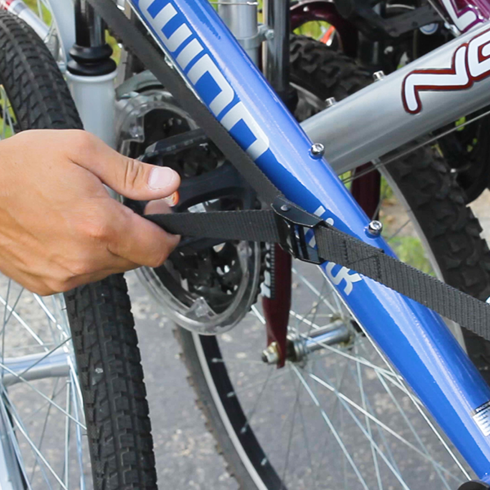 Stop and double check all attachment points during long trips