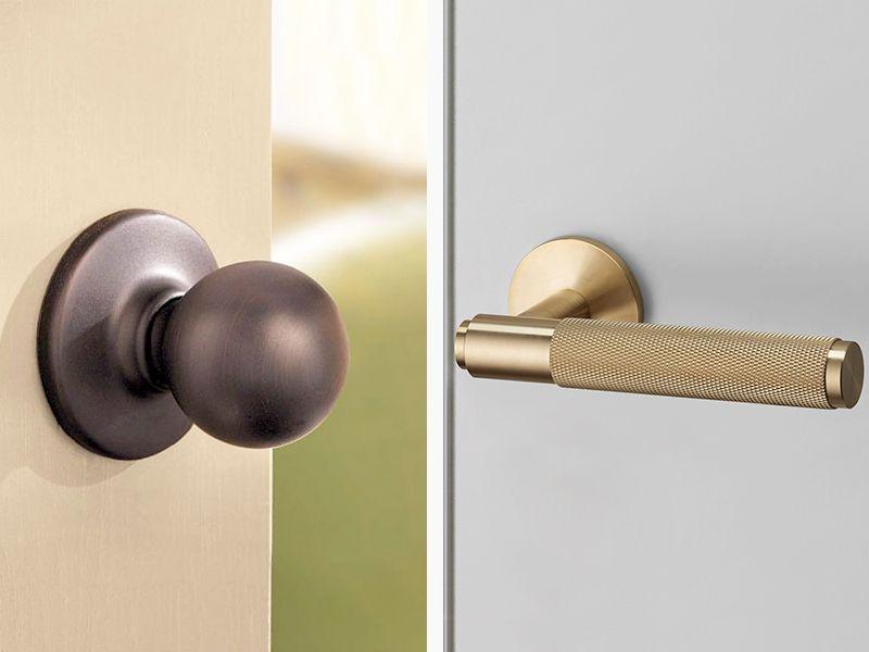 Replace doorknobs with lever door handles