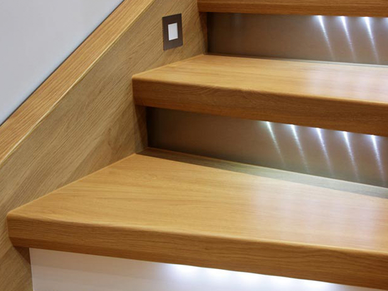 Install extra lighting in stairways and other dark areas