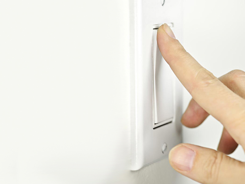 Install rocker style light switches