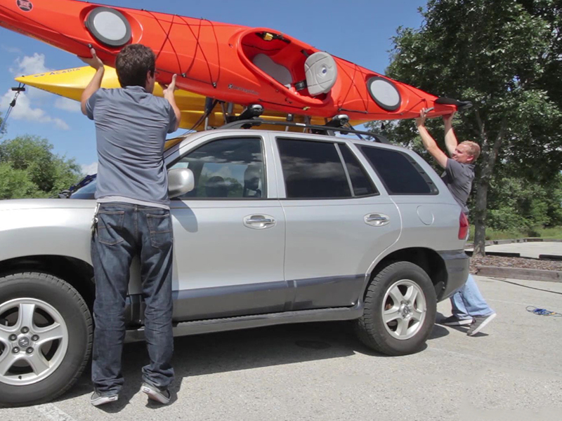 Load the kayak onto your roof rack