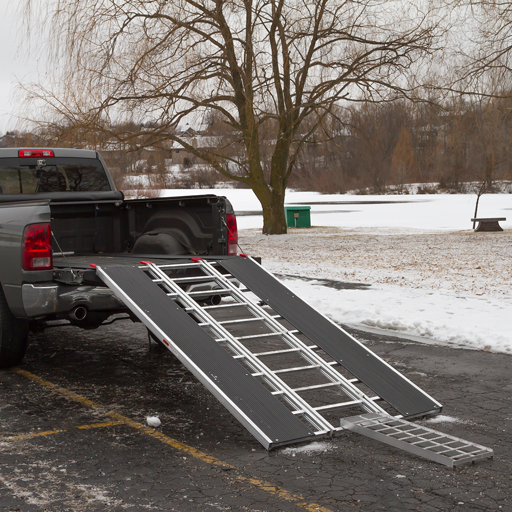 Attach your snowmobile ramp to your truck