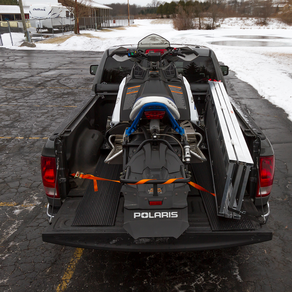 Secure your snowmobile in place