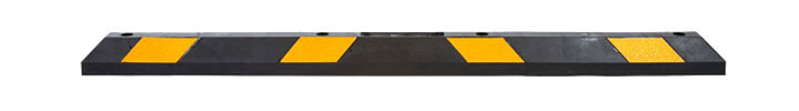 Black with Reflective Yellow Parking Stop