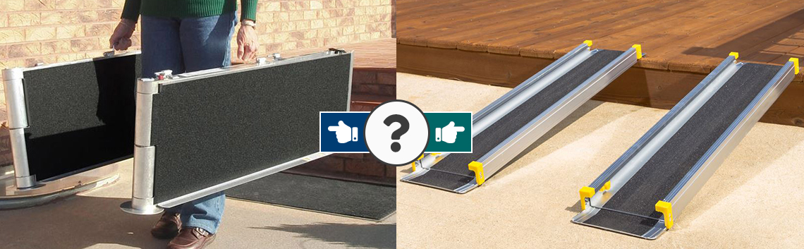 How to Choose between Full-Width Portable Wheelchair Ramps and Track Ramps