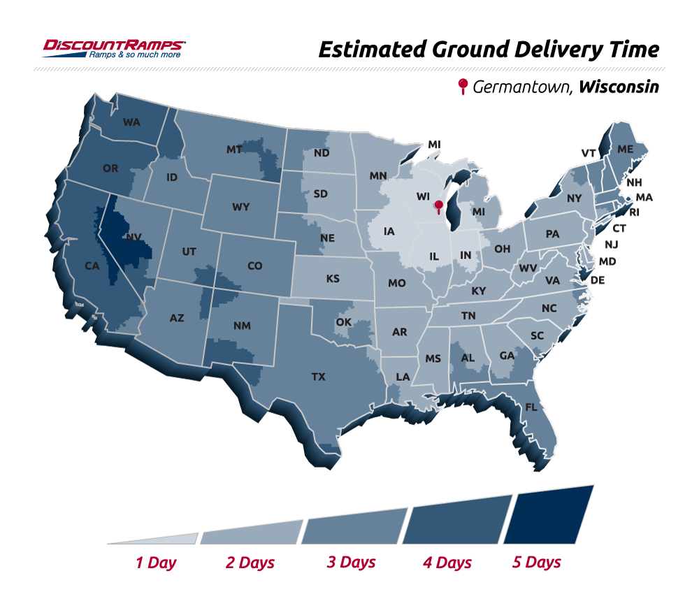 Discount Ramps Fed Ex Shipping Map