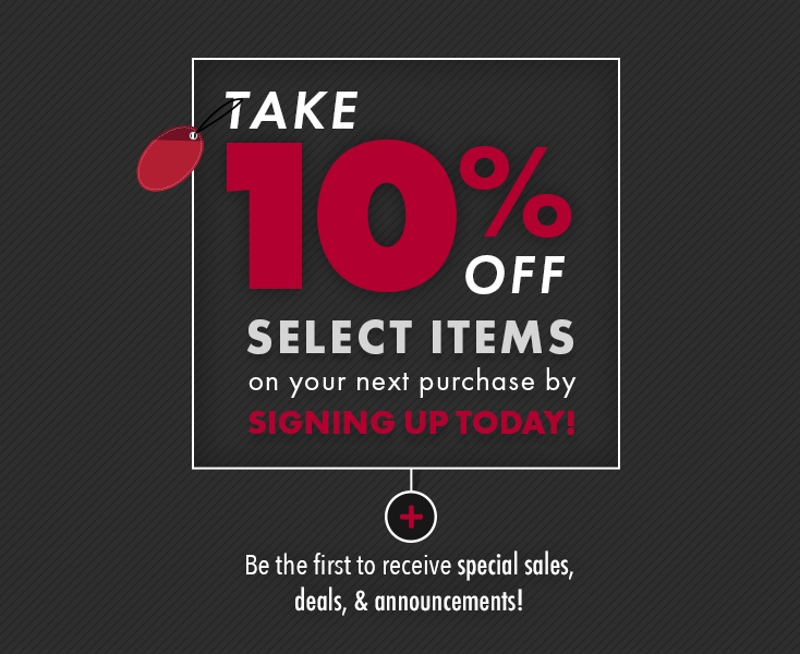 Signup & get 10% OFF your next purchase!