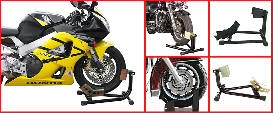 Motorcycle wheel chocks and accessories from Discount Ramps