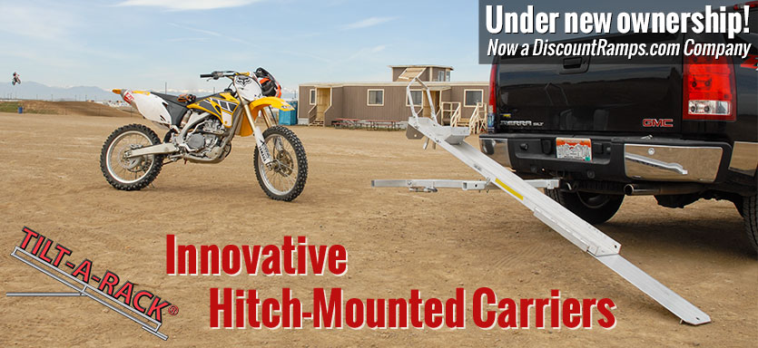Tilt-a-Rack Innovative Hitch-Mounted Carriers