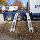 02-12-144 Aluminum Folding Smart Car Trailer Ramps - 2000 lb per axle Capacity 1