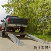 05-TTRAMP-HOOK-PP EZ Traction Hook End Aluminum Car Trailer Ramps - 5000 lb per axle Capacity 1