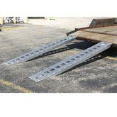 05-TTRAMP-HOOK Aluminum Hook End Car Trailer Ramps - 5000 lb per axle Capacity 5