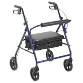 10216-1 Drive Medical Blue Bariatric Rollator
