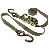 10RAT-SG 1 x 10 Army Green Ratchet Straps with S-Hooks