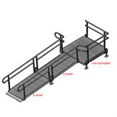 12-44T Silver Spring 12 Side-Entry Straight Modular Ramp with 4 Platform