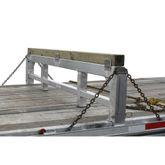 20-04-101-26-LL 5 L x 97-14 W x 26 H Aluminum Load Leveler Bridge - 20000 lb Capacity